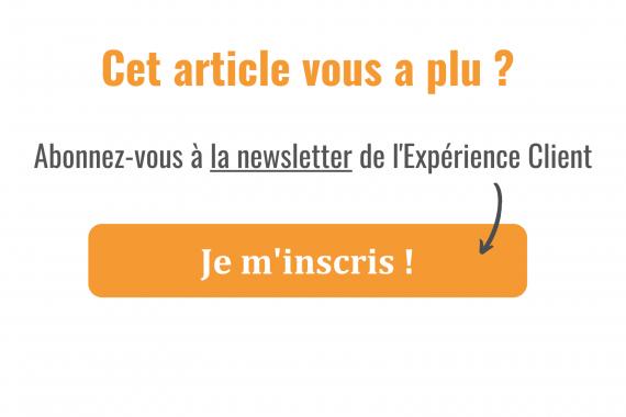 Expérience client - newsletter